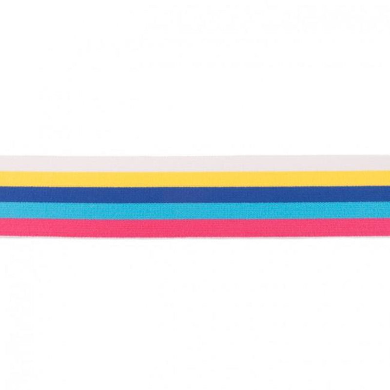MULTI STRIPES ELASTIC YELLOW - 40 MM
