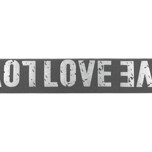 LOVE ELASTIC GREY- 40 MM