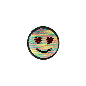 RAINBOW SMILE REVERSIBLE PATCHES - Lilly and Mimi Fabric Shop
