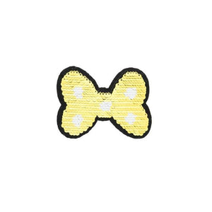SMALL GOLD BOW REVERSIBLE PATCHES - Lilly and Mimi Fabric Shop