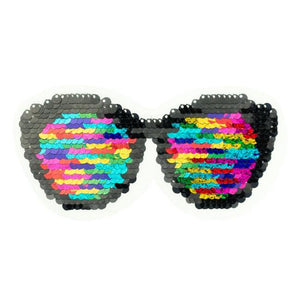 RAINBOW SUNGLASSES REVERSIBLE PATCHES - Lilly and Mimi Fabric Shop