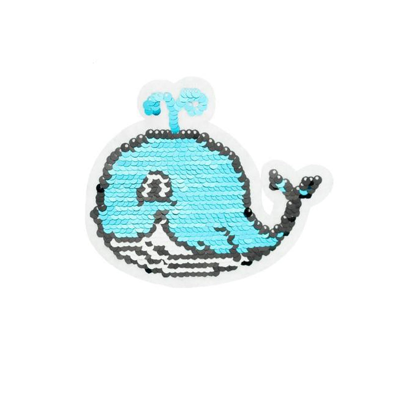 SMALL WHALE REVERSIBLE PATCHES - Lilly and Mimi Fabric Shop