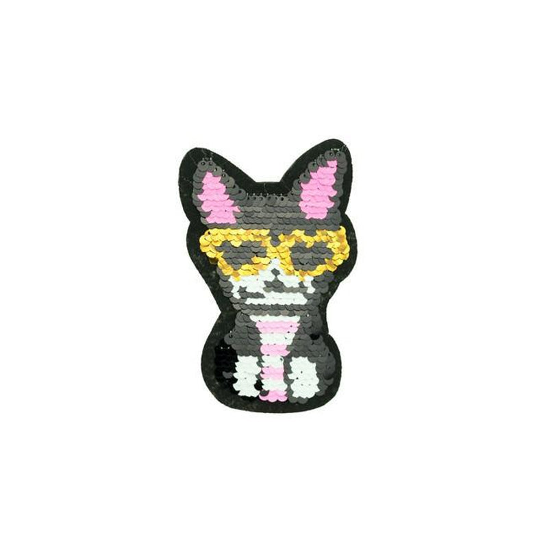 SMALL COOL CAT REVERSIBLE PATCHES - Lilly and Mimi Fabric Shop
