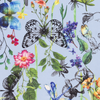 CREPE FABRIC DIGITAL PRINTED FLOWERS AND INSECTS LIGHT BLUE - Lilly and Mimi Fabric Shop