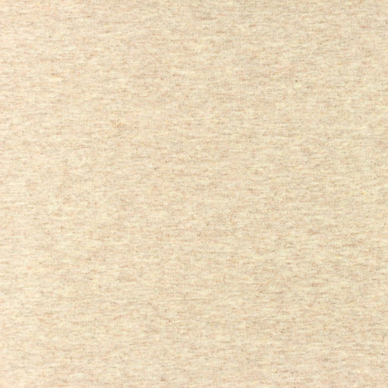 Solid French Terry Knit Fabric - Sand Melange - Lilly and Mimi Fabric Shop