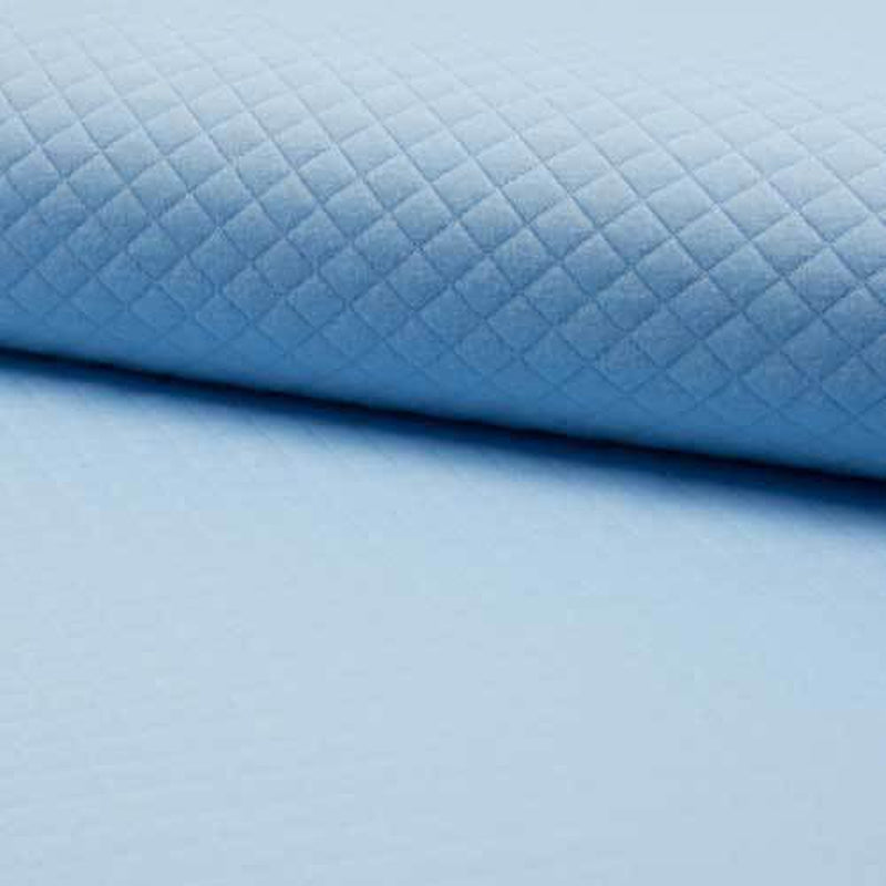 Baby Blue Quilted Jersey Fabric