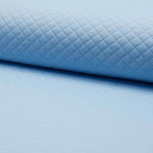 QUILTED JERSEY FABRIC - BABY BLUE