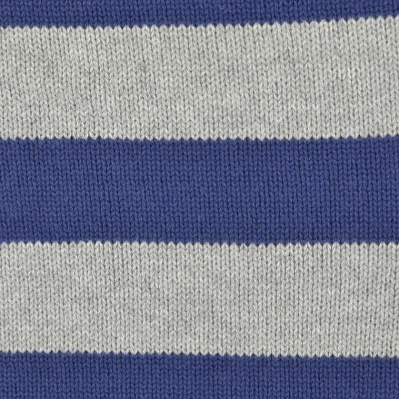 Blue Stripe Cable Knit Fabric