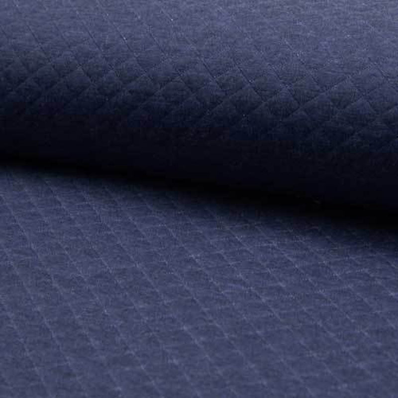 Denim Blue Quilted Jersey Fabric