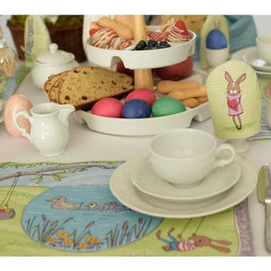 Easter Placemats and Decoration Organic Cotton Jersey PANEL by Lillestoff