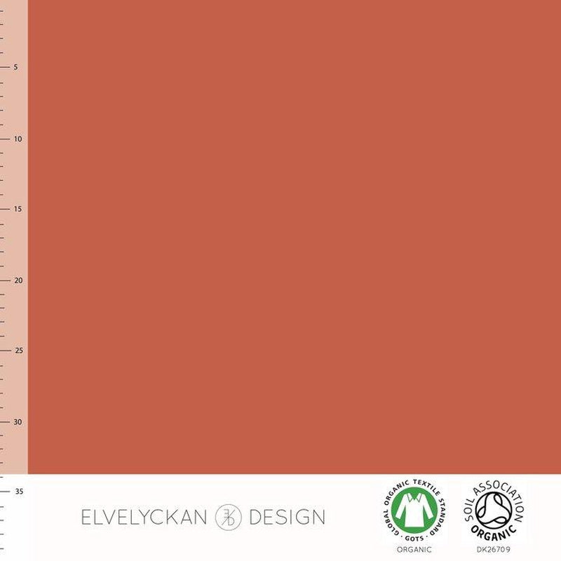 Elvelyckan Design - Ginger Solid Colour Organic Cotton Jersey