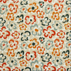 RED FLORAL COTTON CORDUROY FABRIC