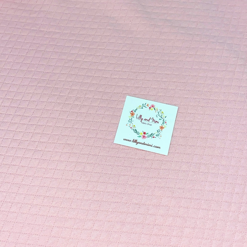 QUILTED JERSEY FABRIC - ROSE
