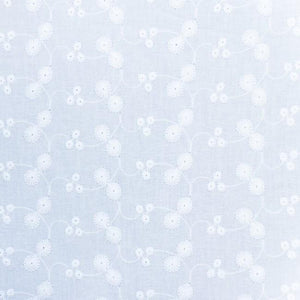 Little Daisy Cotton Embroidery Fabric White