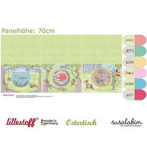 PRESALE!Easter Placemats and Decoration Organic Cotton Jersey PANEL by Lillestoff