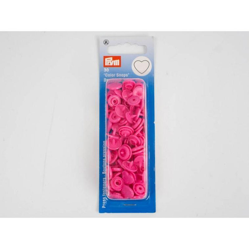PRYM , 12,4 mm - 30 sets - hearts Pink - Lilly and Mimi Fabric Shop
