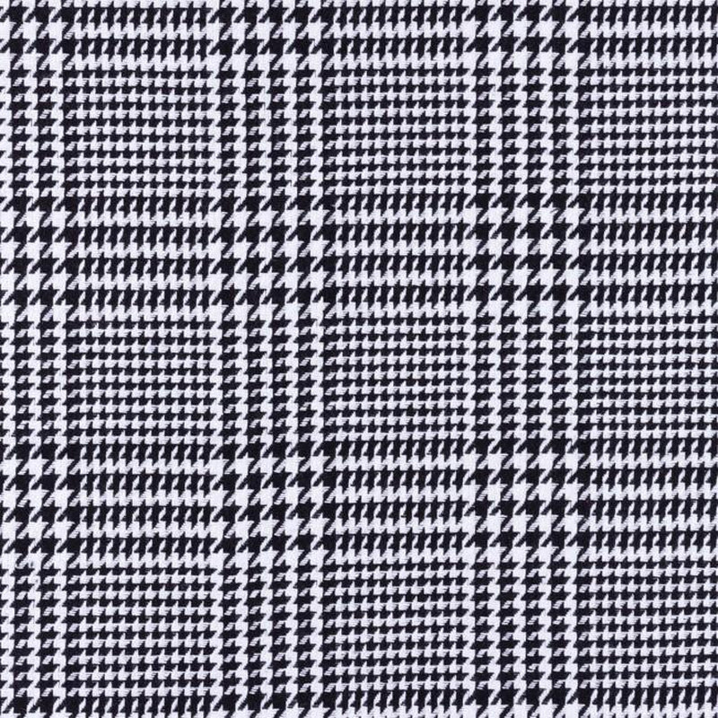 CHECK AND SMALL HOUNDSTOOTH COAT FABRIC