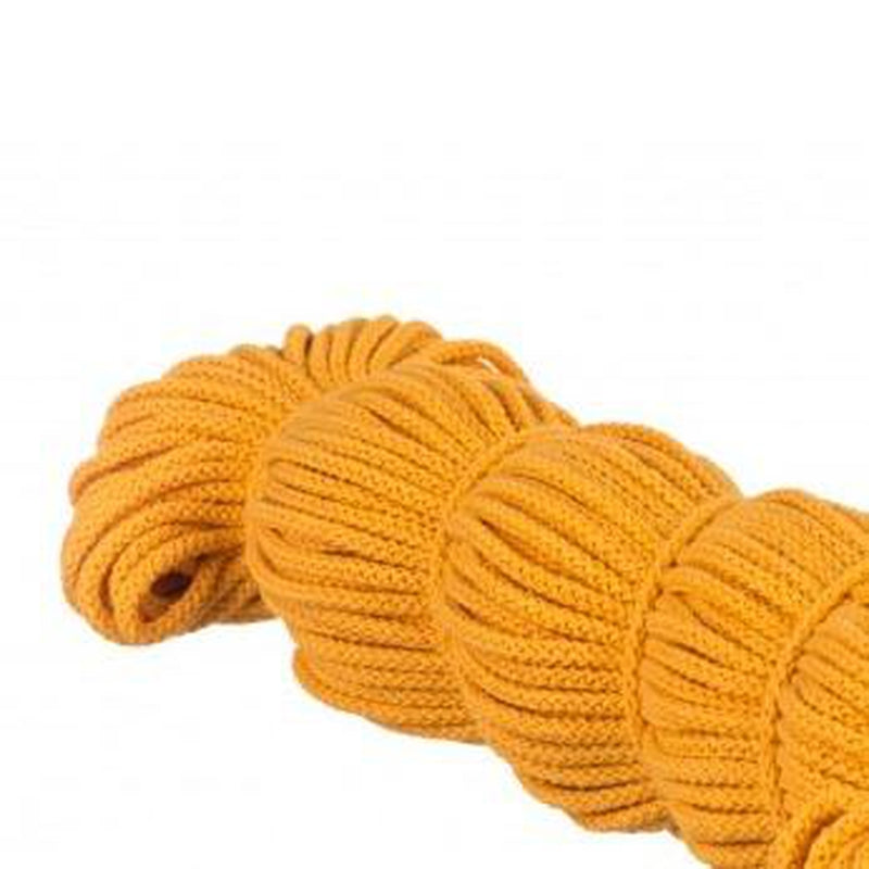 YELLOW COTTON CORD DRAWSTRING 5MM