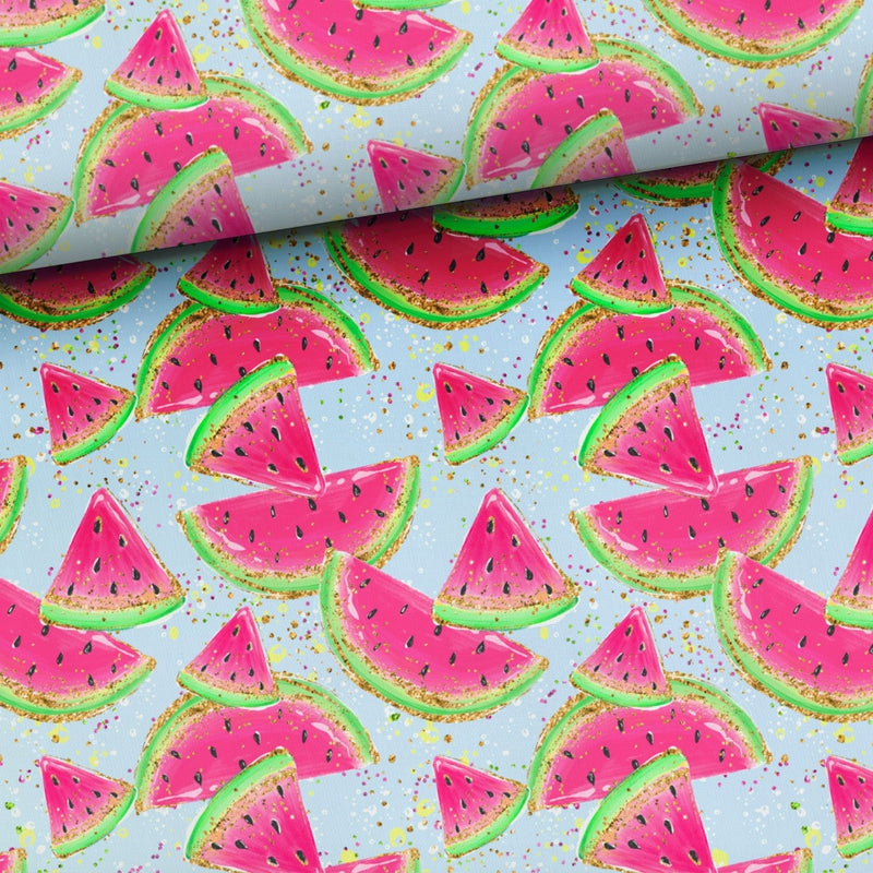 WATERCOLOUR WATERMELON COTTON JERSEY