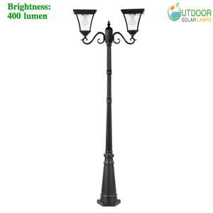 Solar Lantern Double Lamp Post