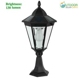 Solar Spindle Top Pillar Light