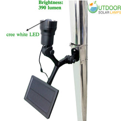 3W CREE White LED commercial Solar flagpole light