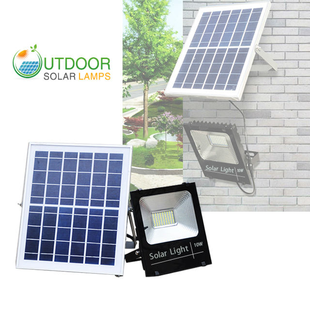 10W F-Series Solar Flood Light W/Remote Controller