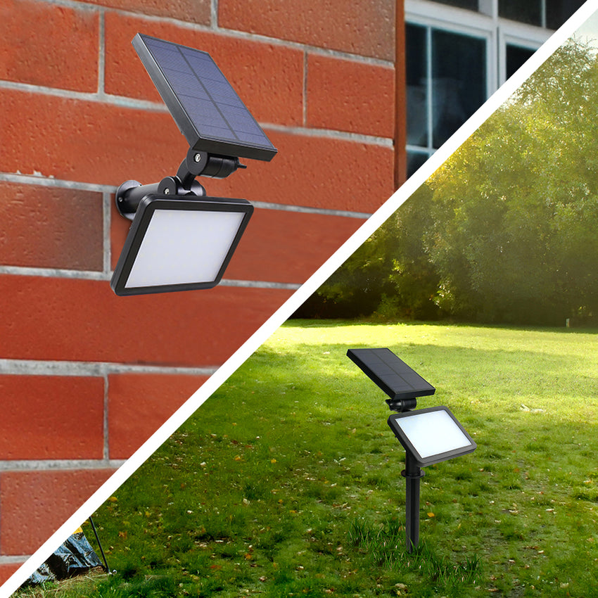 wall mount or ground solar garden light