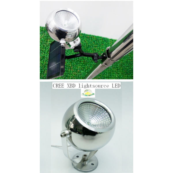 Round aluminum head flagpole light W/Cree LED