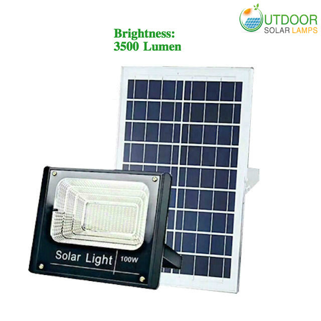 100W F-Series Solar Flood Light W/Remote Controller