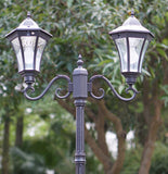 Spindle Top Double Lamp Post