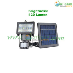 PR Motion Sensor Solar Flood Light
