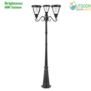 modern Triple Lamp Post Light