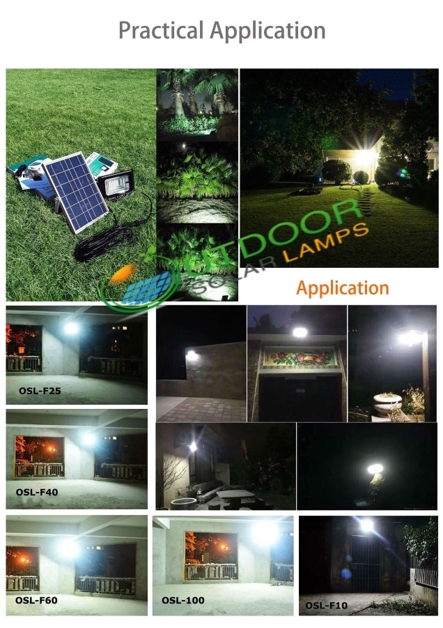40W F-Series Solar Flood Light W/Remote Controller