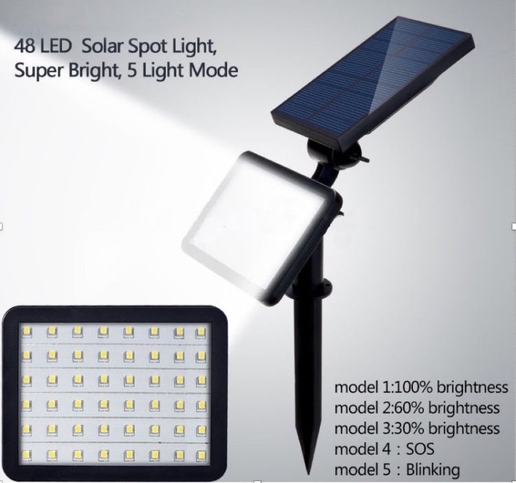 solar light with 5 lighting modes