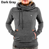 2016 Brand Women Hoodies Sweatshirt Long Sleeve Hooded Pocket Design Warm Hoodie Women Sudaderas Mujer