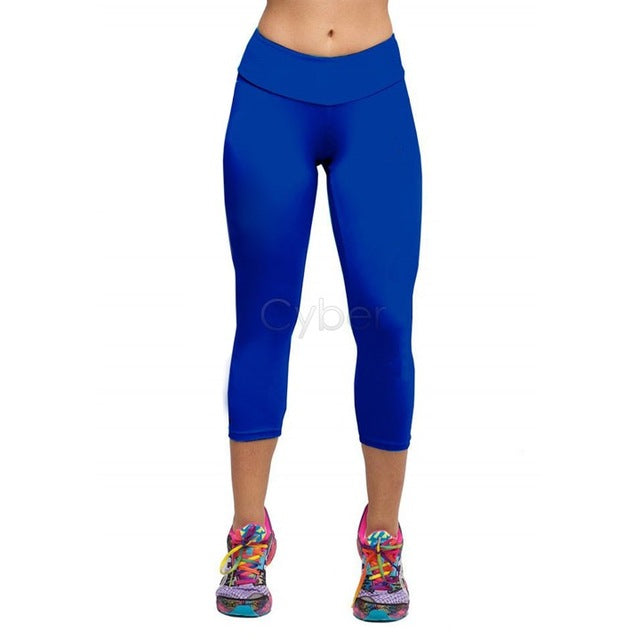 Summer Fashion New Candy Color Women Pants neon Pants High Waist Cropped Fitness Leggings