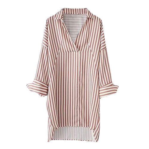 Striped Casual Shirt Dress