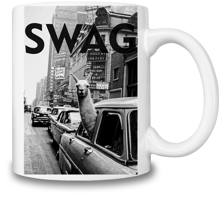 SWAG Llama In New York City Cab Coffee Mug