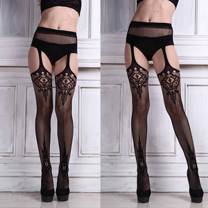 One Piece Fishnet Garter Belt/Stockings/Thigh High
