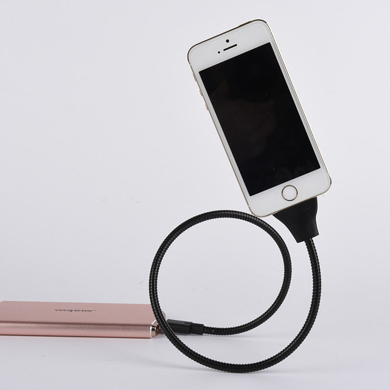 Phone Data Cable + Coiled Holder