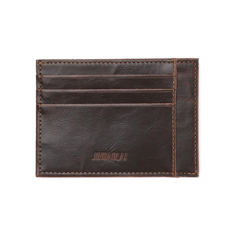 JINBAOLAI Wallet Men Wallets Bifold Leather  ID Credit Card Holder Billfold Purse Clutch Men's Wallet carteras mujer #JYYW