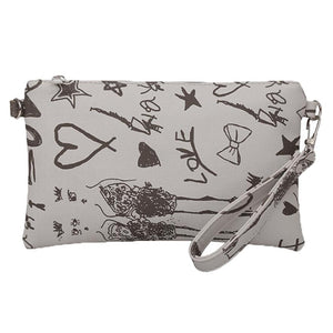 Graffiti Wallet Clutch