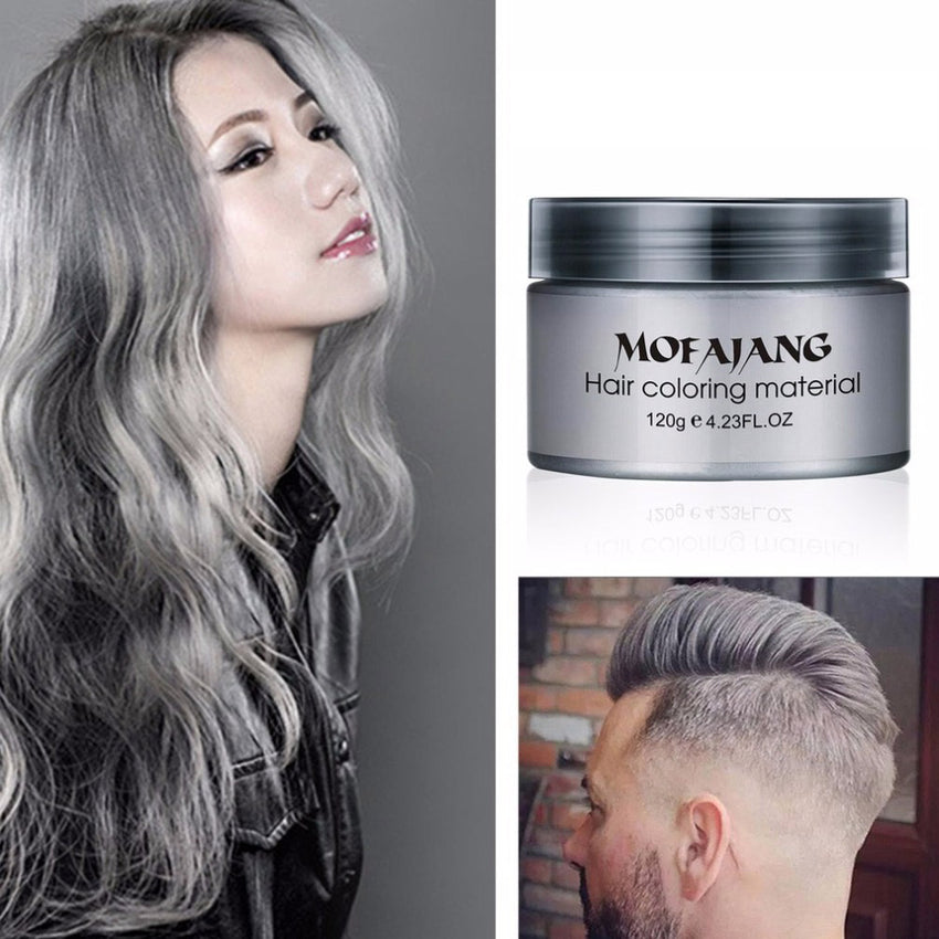 Salon Hair Styling Pomade Silver Ash Grandma Grey Hair Color Waxes Temporary Disposable Hair Dye Coloring Mud Cream Women/Men