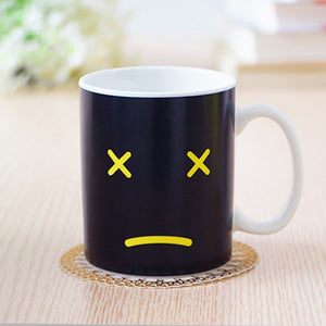 2016 Useful Heat Changing Mug Color Cup Coffee Sensitive Home House Magic Tea Hot Reactive Cold Ceramic Coffee Tea Cup