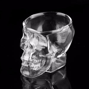 2017 New Arrival Skull Head Shot Glass Cup Wine Mug Beer Glass Mug Crystal Whisky Vodka Tea Coffee Cup 80ml Gift Water Bottle