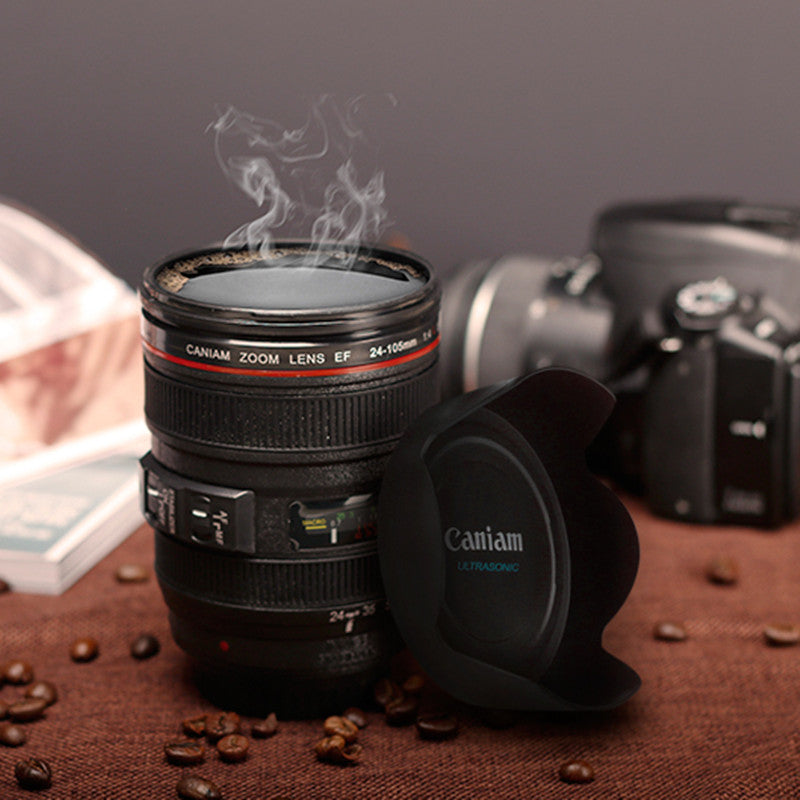 Camera Lens Cup 24-105mm 1:1 Scale Special Present Plastic Milk Beer Coffee Tea Mug Cup 400ML Creative Cups Mugs M103 Mug