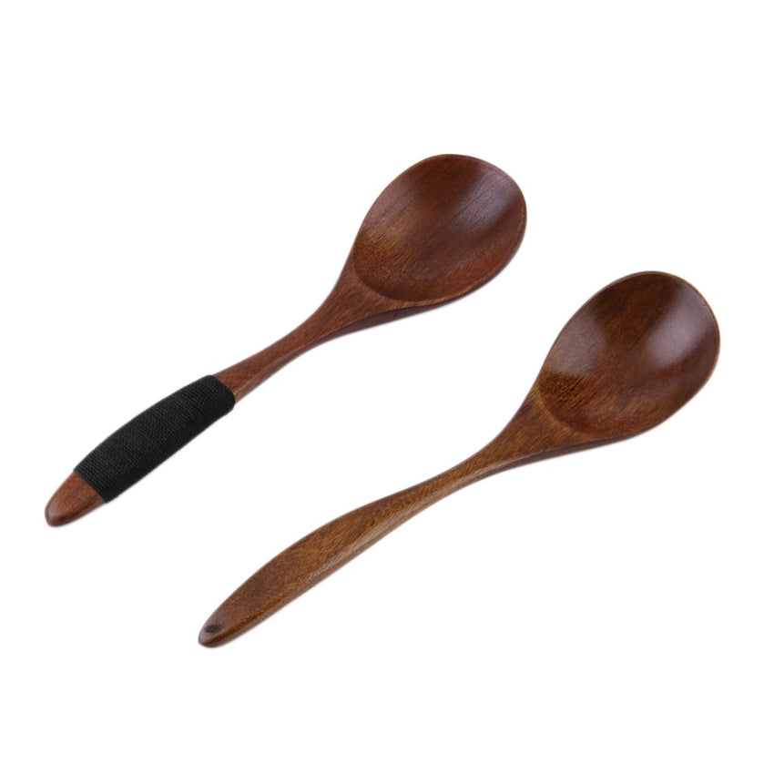 17cm Handmade Wooden Spoon Kitchen Cooking Dinner Tools Utensil Tool Coffee Soup Dessert Soup Teaspoon Catering New Arrival
