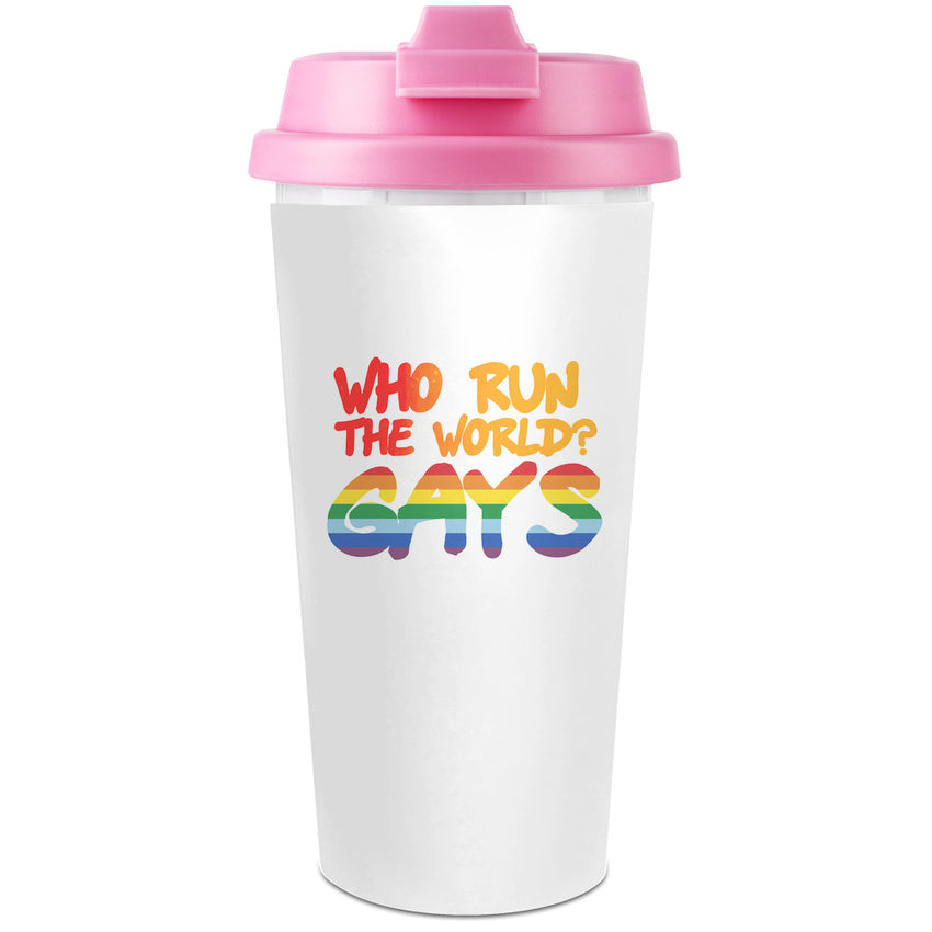 G*y Pride Plastic Travel Coffee Cup - 450 ml - Enjoy Your Drinks Everywhere