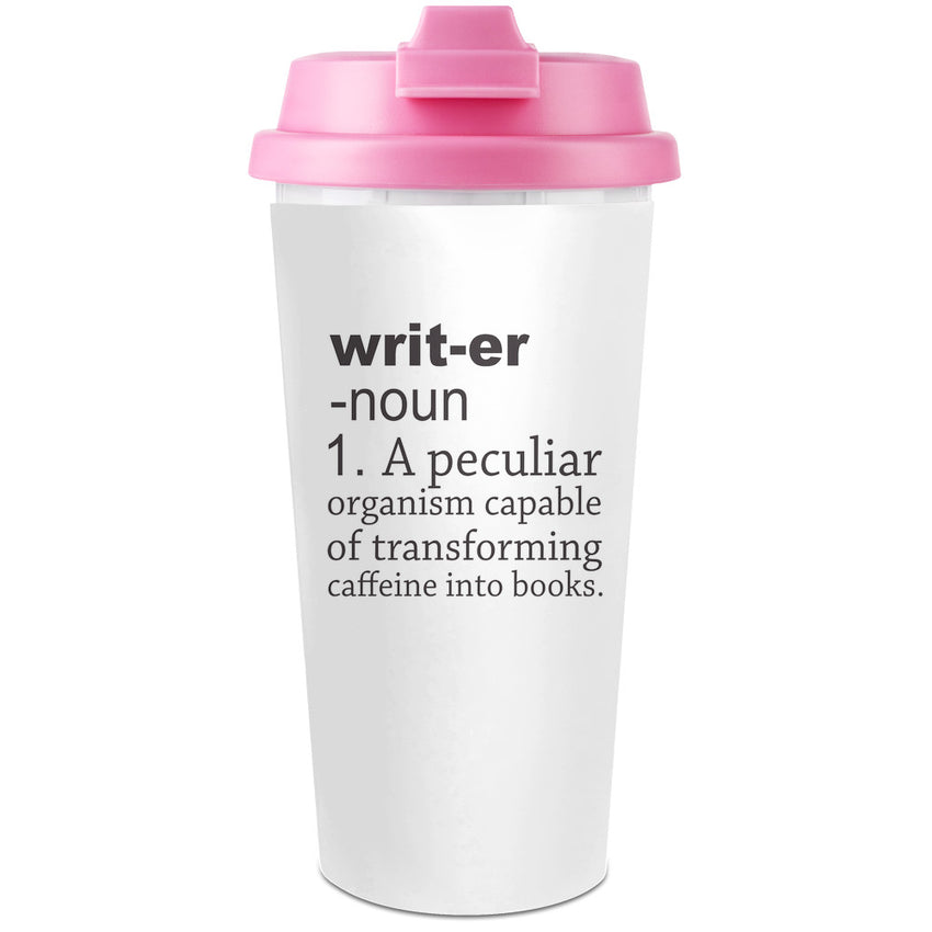 Writer Definition Funny  Plastic Travel Coffee Cup - 450 ml - Enjoy Your Drinks Everywhere